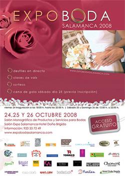 Cartel promocional de Expoboda Salamanca 2008