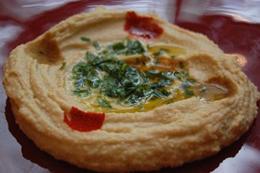 Receta de humus, salsa de la cocina árabe