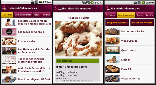 App de Hostelería Salamanca