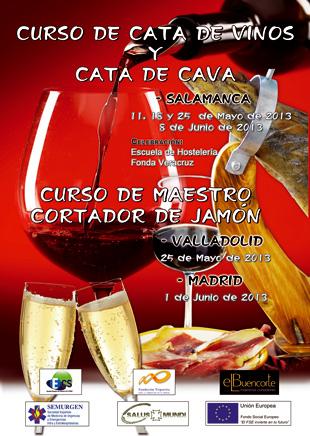Curso de cata de vinos bonificado en Salamanca