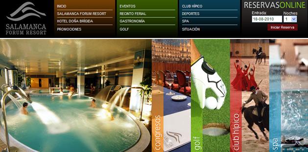Web de Salamanca Forum Resort
