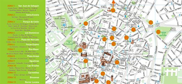 mapa casetas y pinchos feria dia salamanca 2012