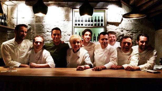 Fran Vicente junto al Jurado y compañeros de Top Chef