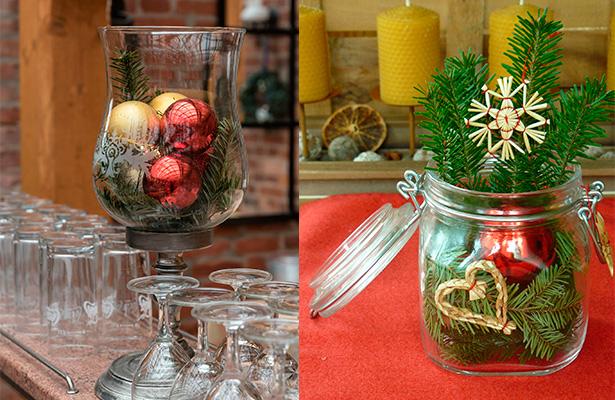 Consejos en versi n low cost para vestir tu mesa de - Centros navidad caseros ...