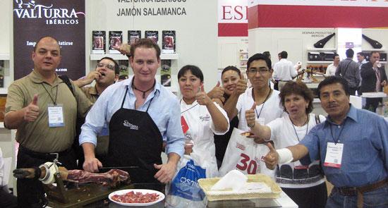 Stand de Valturra Ibéricos en la última edición de Alimentaria México