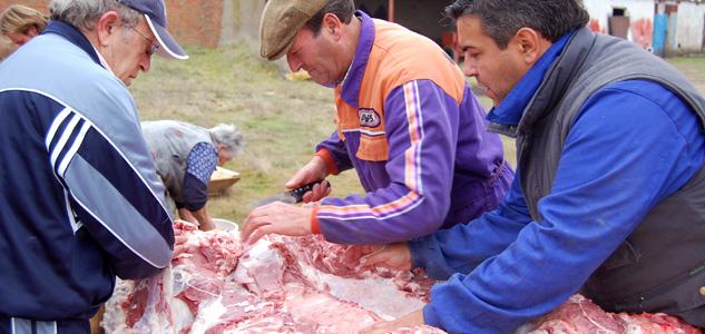 Despiece en la Matanza del cerdo