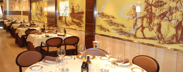 Comedor del restaurante El Hidalgo de Salamanca