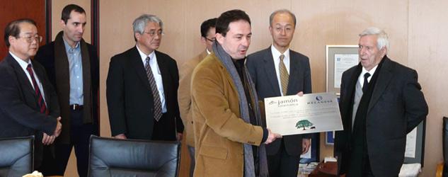 Delegación japonesa junto a Mariano Rodríguez