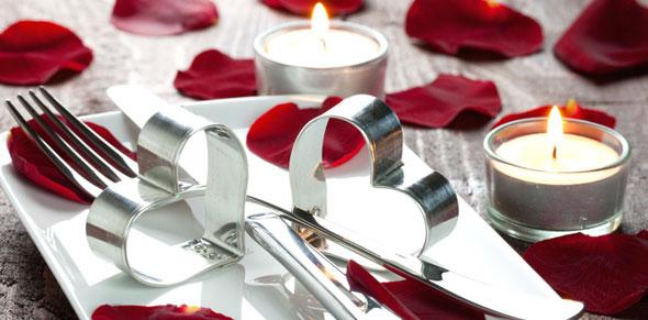 Mesa romántica para San Valentín