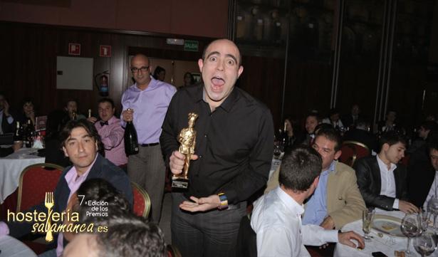 Helio Flroes en los Premios Hosteleriasalamanca.es 2013
