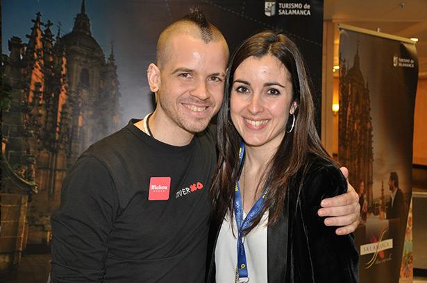 Eva González con David Muñoz de Diverxo