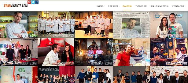 Página Web de Fran Vicente Top Chef