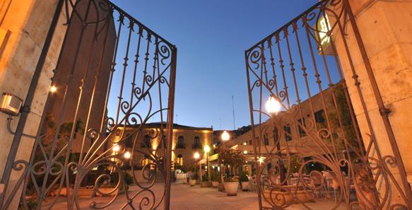 Terraza del Restaurante Palacio Prado (Salamanca)