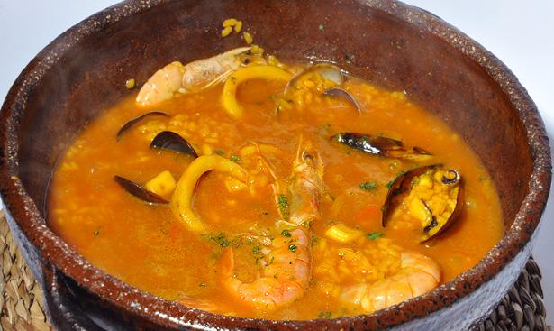 arroz caldoso de restaurante Cala Fornells en Salamanca