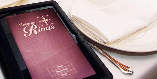 Carta interactiva en el Restaurante Rivas