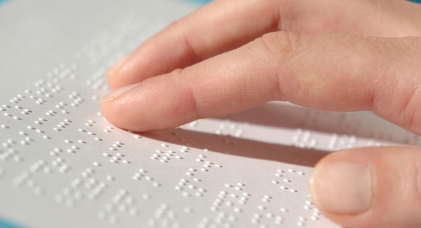 Carta de restaurante en braille