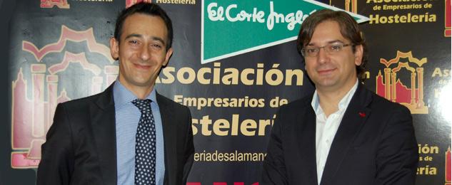 Luis Barreda Gago de El Corte Inglés de Salamanca y David Prieto de la AEHS