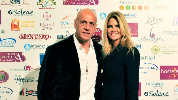 Kiko Matamoros y Makoke en los Premios Hosteleriasalamanca.es