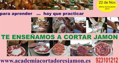 curso cortador de jamón