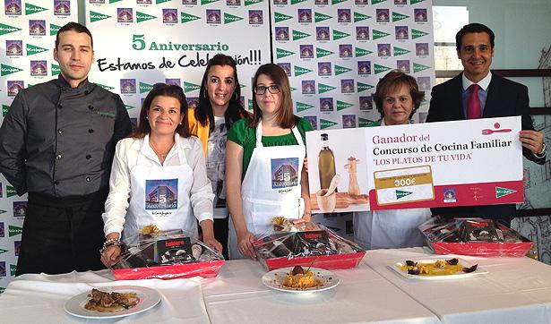 Finalistas Concurso Recetas Corte Inglés de Salamanca y el Jurado