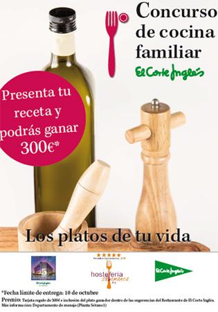 Concurso de recetas los platos de tu vida en el Corte Inglés de Salamanca