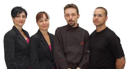 Staff del restaurante el Alquimista, Salamanca