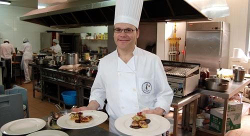 Gerardo Díaz, jefe de cocina de las Cabañas