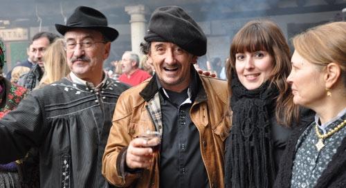 Jesús Pascual, Florencio Sanchidrián y la periodista Eva González