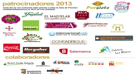 Primeros patrocinadores de los Premios HS 2013