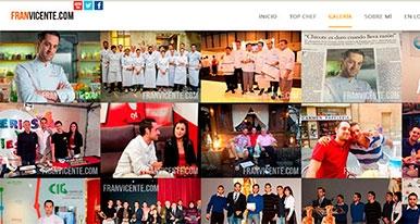 Fran Vicente estrena Web Oficial y contin�a en Top Chef