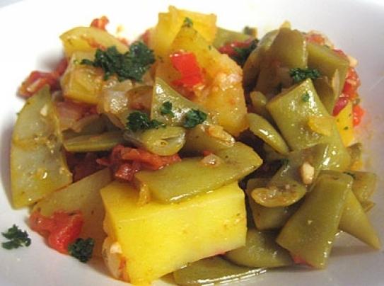 Receta De Judías Verdes Estofadas Con Tomate Y Pimiento Hosteleriasalamanca Es